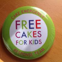 Cake with the type - free cakes for kids in a circle printed on it