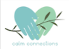 Calm Connections logo - two hands joined over an olive branch
