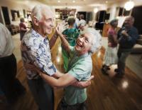 Image of older couple dancing