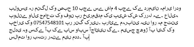 Information in Urdu about bluSCI services