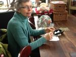 Lady who learned to crochet with us!