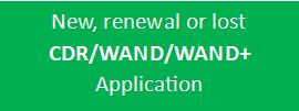 Start CDR, WAND or WAND+ application
