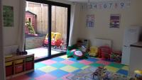 Toys and colourful floor