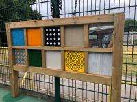Sensory outdoor play equipment