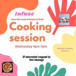 Cooking session flyer