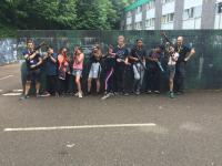 Wandsworth VPC having a game of Laser Tag