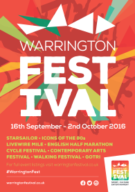 Warrington Festival Poster