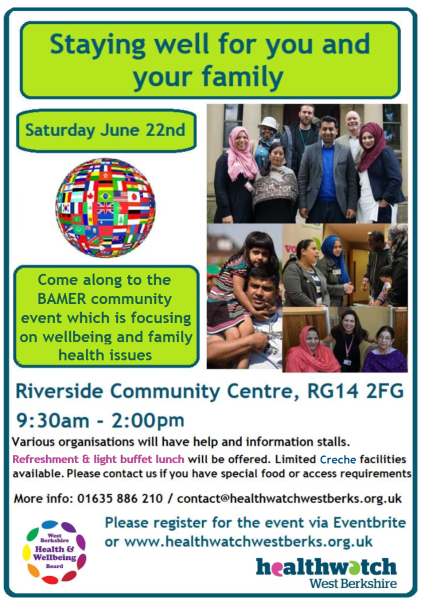 22nd June 2019 9.30am to 2.00pm FREE BAMER event