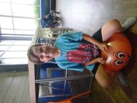 Young boy on a space hopper at our SEN relaxed soft play session.