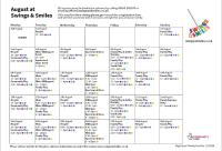 Swings and Smiles August Timetable