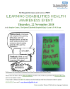 Learning Disabilities Health Awareness Event