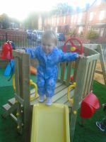 Fun in the babies garden area
