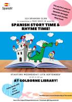Free Monthly Drop In Session Story Time and Rhyme Time in Spanish
