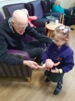 The children really enjoy visiting the local care home and spending time with the residents.