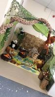 Toddlers jungle role play area.