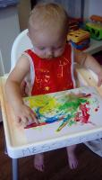 Child playing in nursery