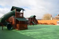 One of the outside play areas
