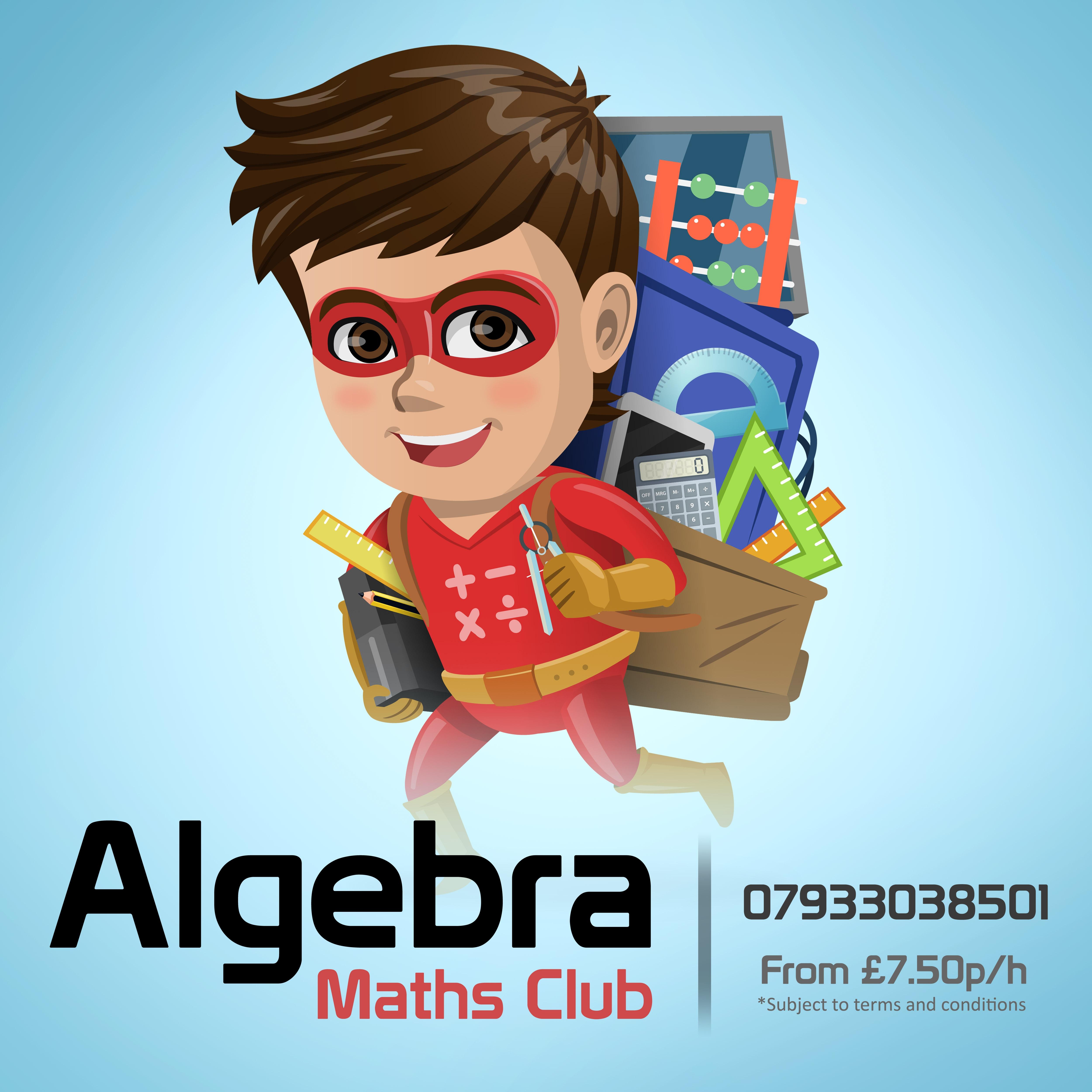 Algebra Maths Club poster