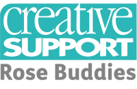Rose Buddies, Creative Support logo