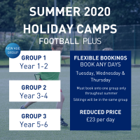 Summer 2020 Holiday Camps