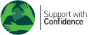 Support with Confidence logo - A joint Trading Standards and Adult Social Care scheme that lists, vetted and approved carers and providers of domestic help