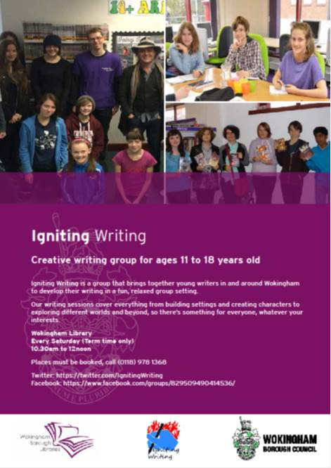 Igniting Writing - Teen Writing Group Poster