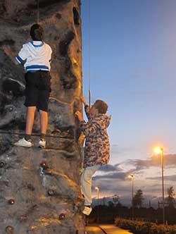 Youth Club @ Addington on the Climbing Wall!