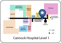 Minor Injury Unit Level 1 Map