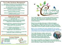 Crafty Gardener Leaflet Outer