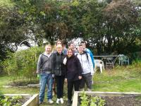 Group picture on the allotments!
