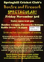 Come and join us for our annual bonfire and firework party on Friday 3rd November. Under 12's are free, paying customers get a free raffle ticket on entry, top prize is a £50 John Lewis voucher. Keep the date free!